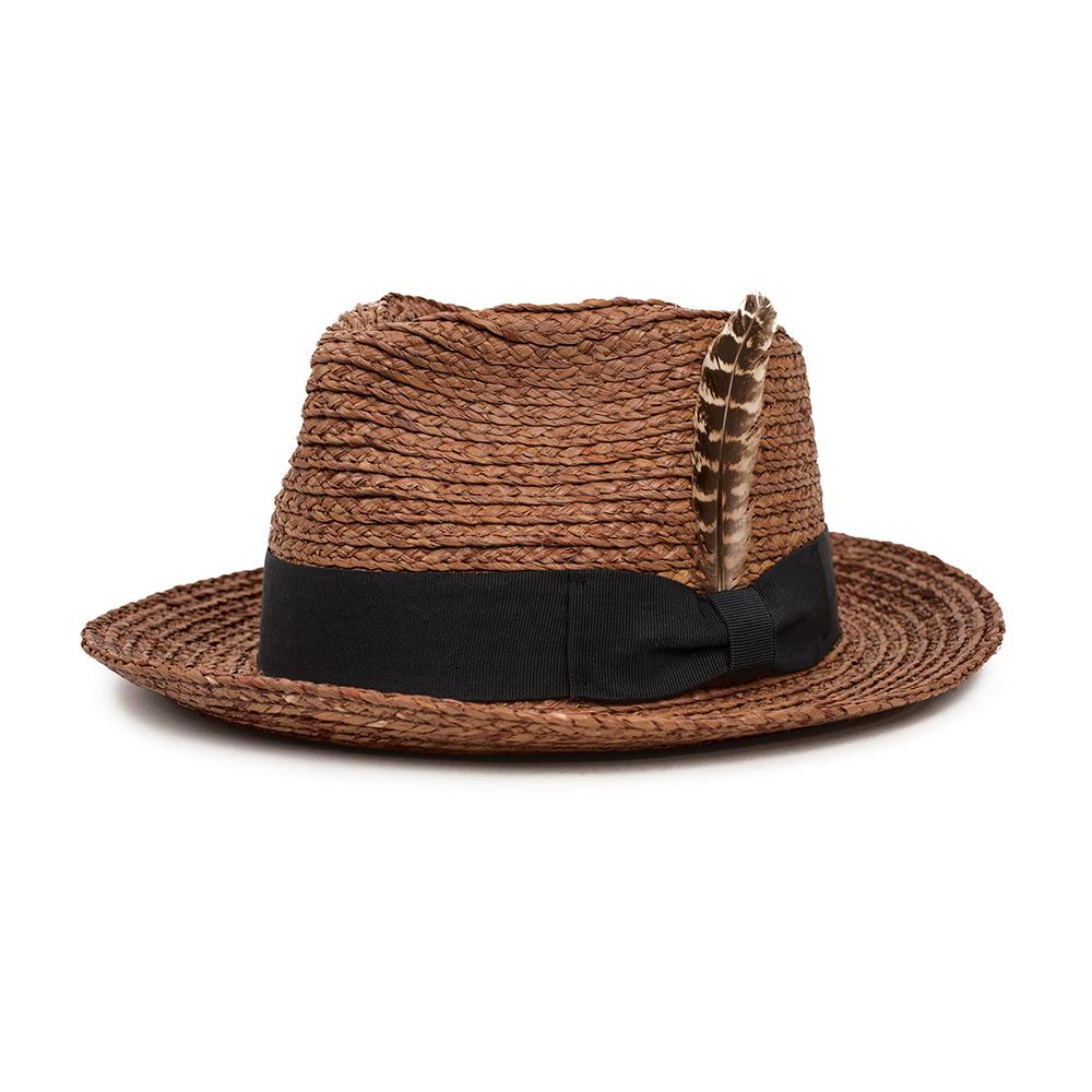 1f23535be9b Brixton – Crosby II Fedora Straw Hat Brown