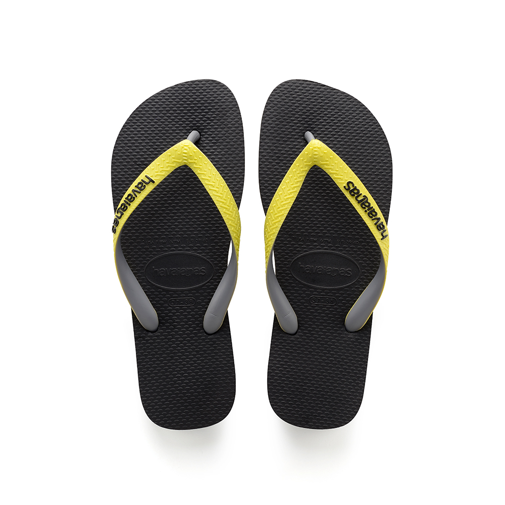 5674f2336602 Havaianas – Top Mix Black Neon Yellow Flip Flops
