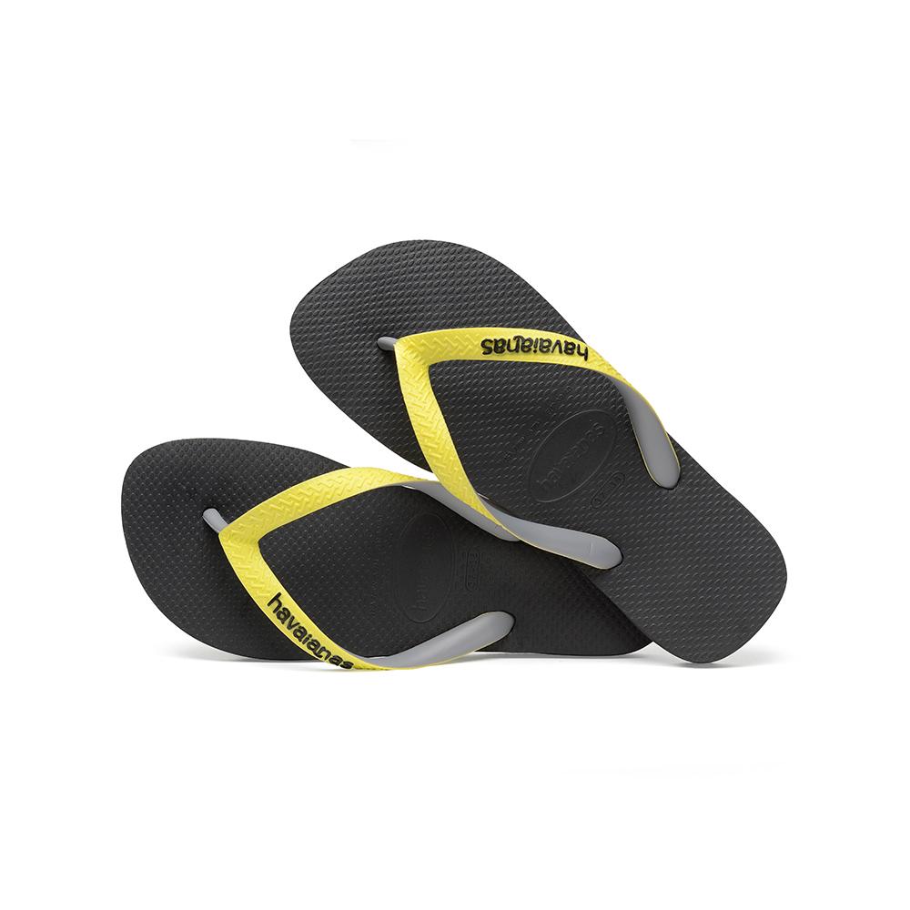 0d3606d0a Havaianas – Top Mix Black Neon Yellow Flip Flops